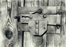 Old lock in grey tones Stock Photos