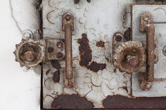 Old lock and handle of crematory Royalty Free Stock Photos