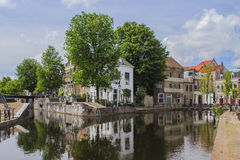 Old lock. An old historic lock in the old part of Schiedam, Netherlands Stock Photography