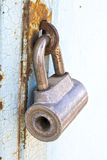 The old lock on iron gate Royalty Free Stock Photos