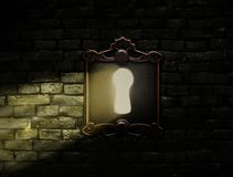 Old lock with light shining through Royalty Free Stock Photo