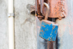 Old lock. On old metal fence Stock Photography
