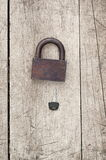 Old lock and modern key Stock Photos