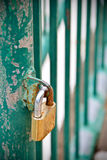 Old Lock with oxide on door Stock Photography