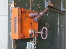 Old lock in a prison Royalty Free Stock Photos