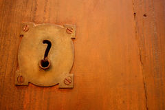 Old lock and question. Royalty Free Stock Images