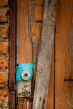 Old lock in a garden shed Royalty Free Stock Photo