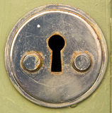 Old lock. With rusty keyhole Stock Images
