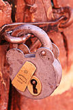 Old Lock - Santa Catalina Convent, Arequipa, Peru Royalty Free Stock Photos