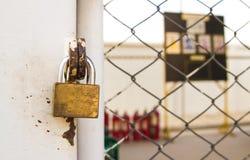 Old lock of storage Stock Photos