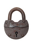 Old  lock on a white background (isolated). Stock Image