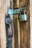 Old Lock and Wood Royalty Free Stock Photo