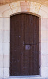 Old lock in wooden doors Royalty Free Stock Photography