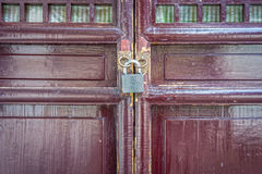 Old locked door Stock Photo
