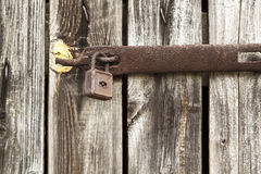 Old locked door Stock Photography