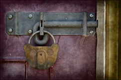 Old locked door in grunge Royalty Free Stock Photography