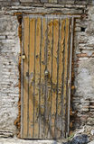 Old locked door in the old city Royalty Free Stock Photography