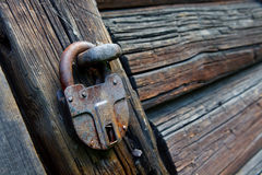 Old locked padlock Royalty Free Stock Images