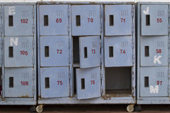 Old locker. In blue color Royalty Free Stock Photography