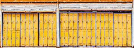 Old Lockers in bus station Stock Photography