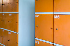Old Lockers at Sport Club Royalty Free Stock Photo