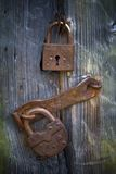 Old Locks. Ukraine. A museum of national architecture and life Pirogovo royalty free stock photo
