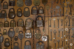 Old Locks and Keys Stock Photography