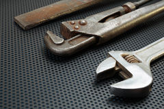 Old locksmith tools Royalty Free Stock Images