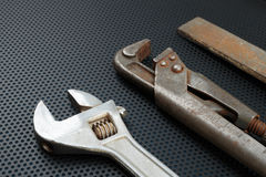 Old locksmith tools Royalty Free Stock Photography