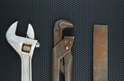 Old locksmith tools Royalty Free Stock Photos