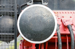 Old locomotion coupler close-up Royalty Free Stock Photos