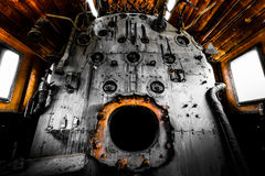 Old locomotiv interior Stock Photography