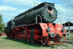 Old locomotive. Steam locomotive at the museum locomotives of Dej, Romania Stock Images