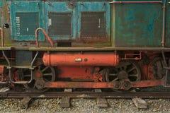 Old locomotive. Old diesel locomotive, no longer in operation Royalty Free Stock Image
