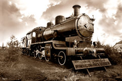 Old locomotive Stock Photo