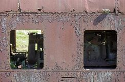 Old locomotive abandoned. And weathered stock images