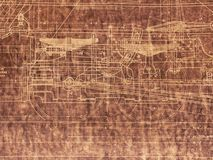 Old Locomotive Blueprint Stock Photography