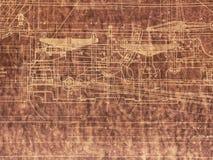Old Locomotive Blueprint. Old blueprint of railroad locomotive. Heritage Park, Calgary, Alberta, Canada Stock Photography
