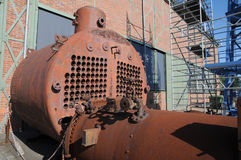 Old locomotive boiler Royalty Free Stock Photo