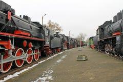 Old locomotive in Brest Stock Photo