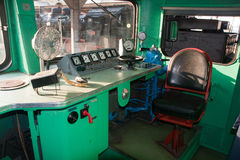 Old locomotive cabin - Bucharest, Romania Royalty Free Stock Image