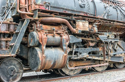 Old locomotive details Stock Photos