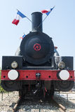 Old locomotive in France Royalty Free Stock Images
