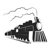Old  locomotive illustration. Royalty Free Stock Photography