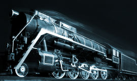 Free Old Locomotive Is Moving In The Night Stock Images - 56162784
