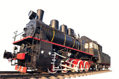 Old locomotive isolated Royalty Free Stock Images