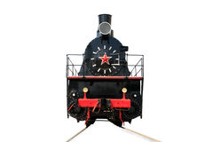 Old locomotive isolated on a white Royalty Free Stock Photos