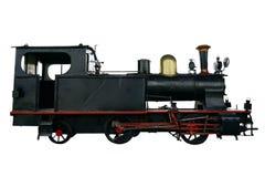 Old Locomotive Isolated on White Stock Photography
