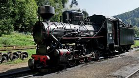 Old Locomotive 4k. Old locomotive shot in 4k stock video footage