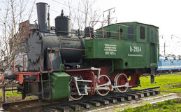 The old locomotive in Mineralnye Vody Stock Images